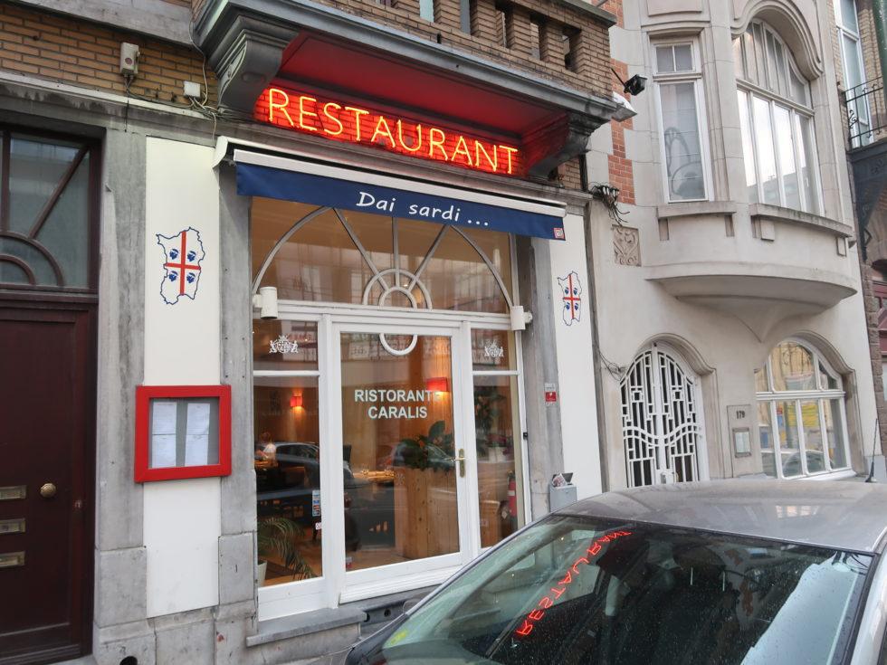 ブリュッセルのイタリアンレストランDaiSardiCaralisの外観