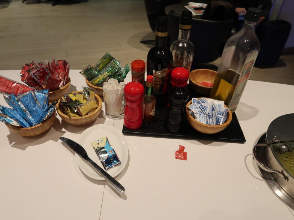 ブリュッセル航空ビジネスラウンジの朝食