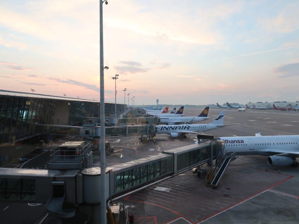 ブリュッセル航空ビジネスラウンジからの景色