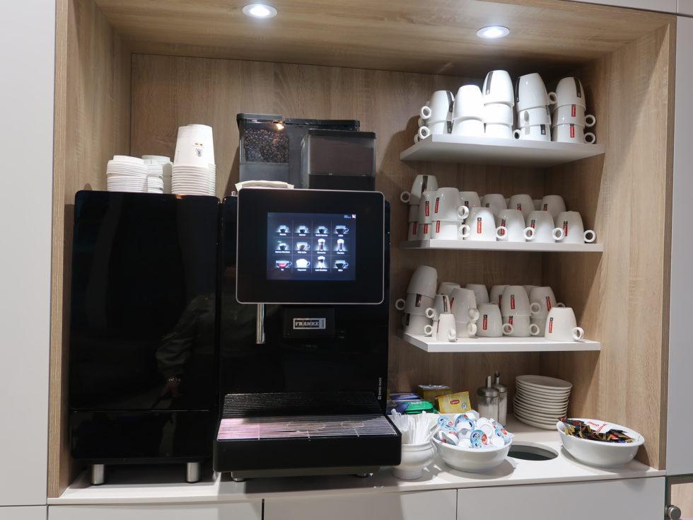 ブリュッセル航空ビジネスラウンジのコーヒー