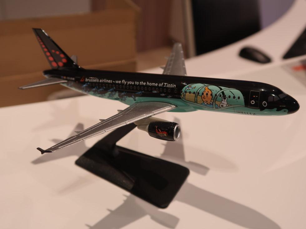 ブリュッセル航空タンタンペイント飛行機模型