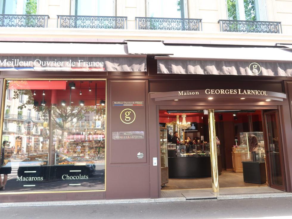 パリのサンジェルマン通りにあるメゾンジョルジュラルニコルの外観