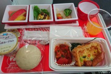 JAL国際線エコノミークラス機内食