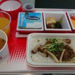 JALホーチミン発羽田行きエコノミークラス機内食