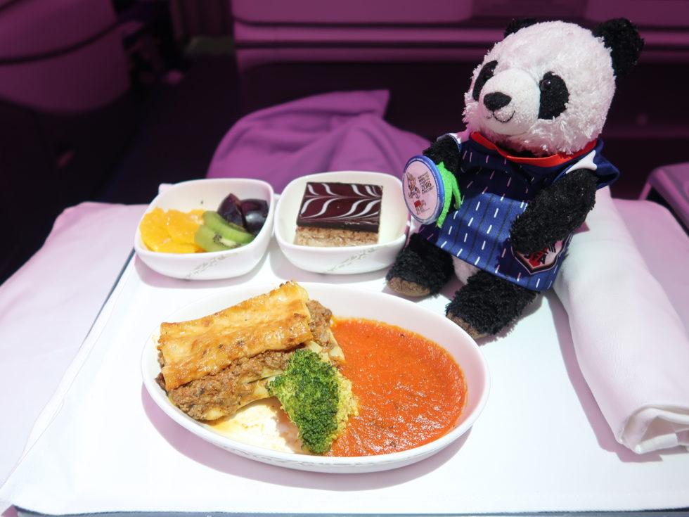 中国国際航空のビジネスクラス機内食