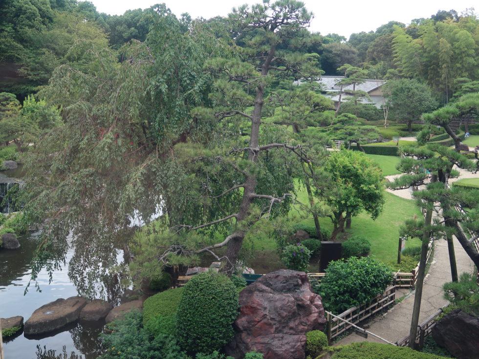 ホテルニューオータニのガーデンラウンジから見えるお庭