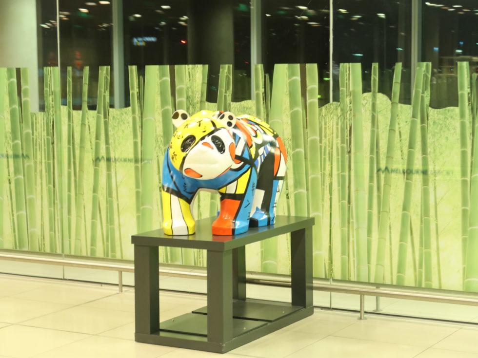 メルボルン空港のパンダ