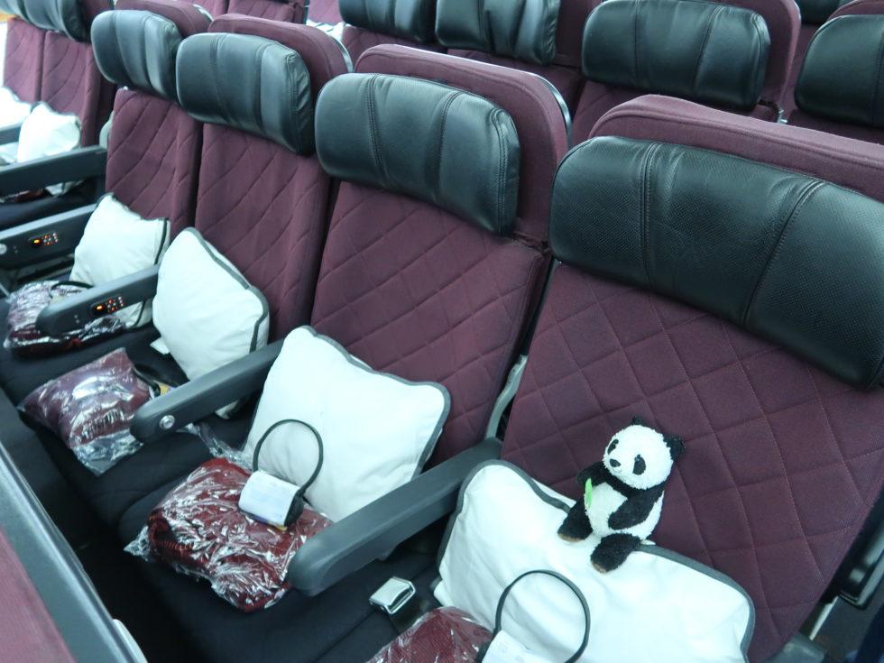 カンタス航空エコノミークラスのシート