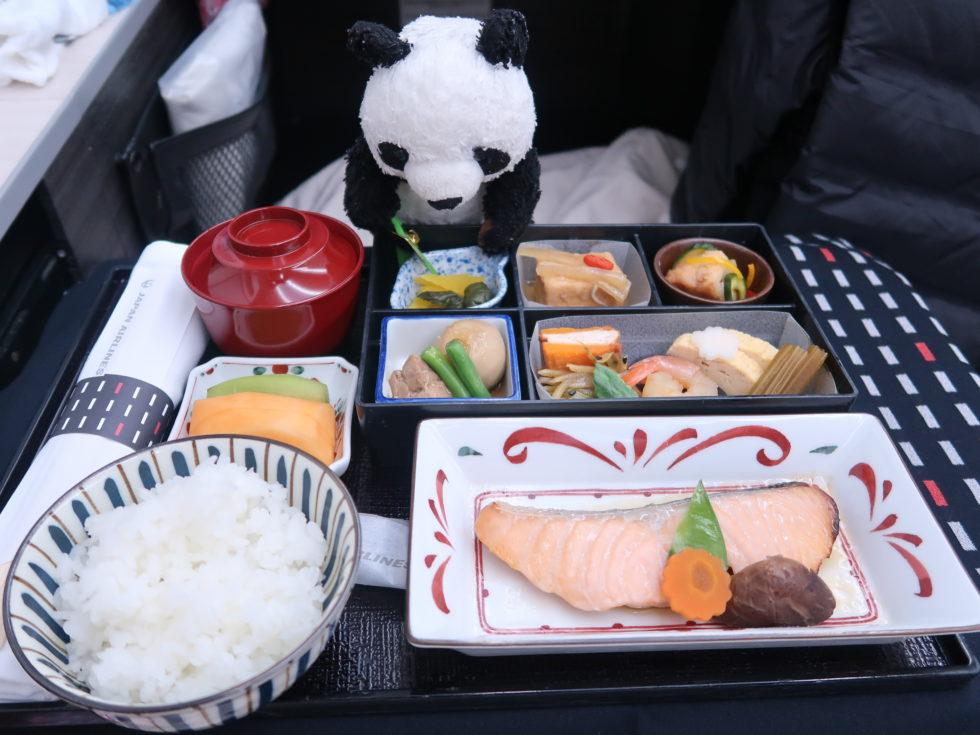 JALビジネスクラス機内食の和食朝ごはん