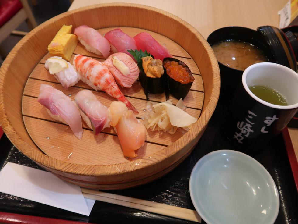 成田空港第2ターミナルのすし三崎丸で食べた丹波