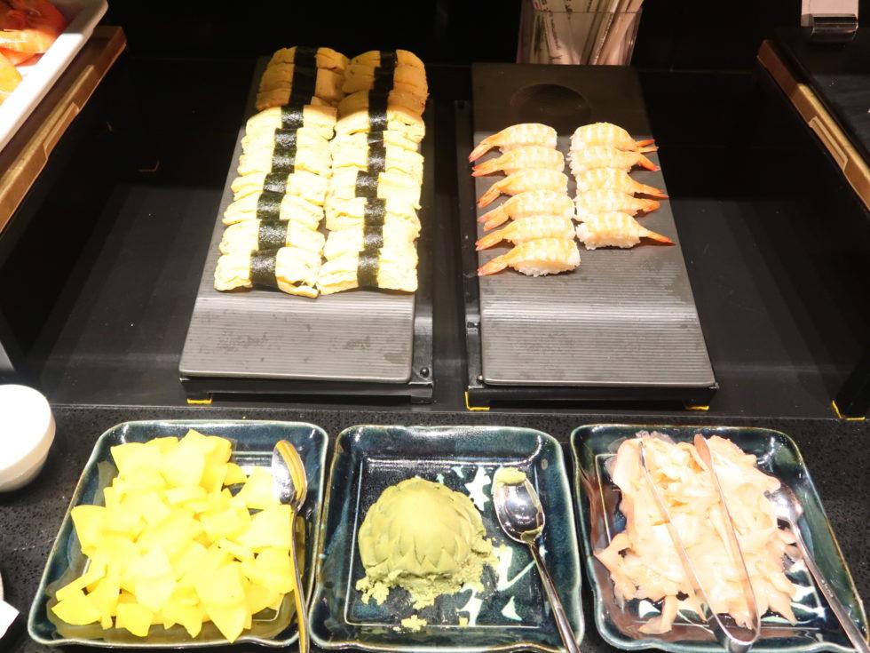 シェラトングランドシドニーハイドパークのクラブラウンジの寿司