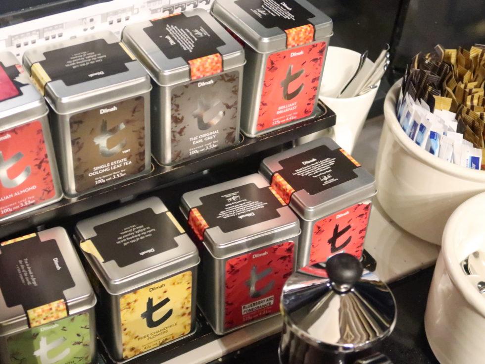シェラトングランドシドニーハイドパークのクラブラウンジの紅茶