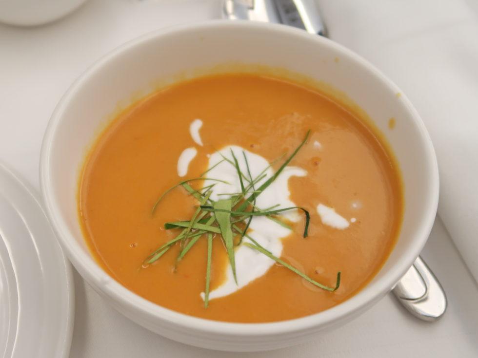 マレーシア航空ビジネスクラス機内食のスープ