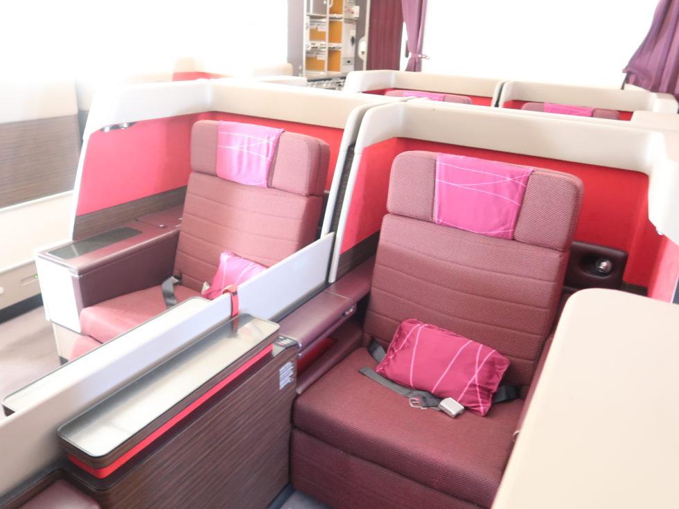 マレーシア航空ビジネスクラスのシート