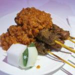 マレーシア航空ビジネスクラス機内食のサテ