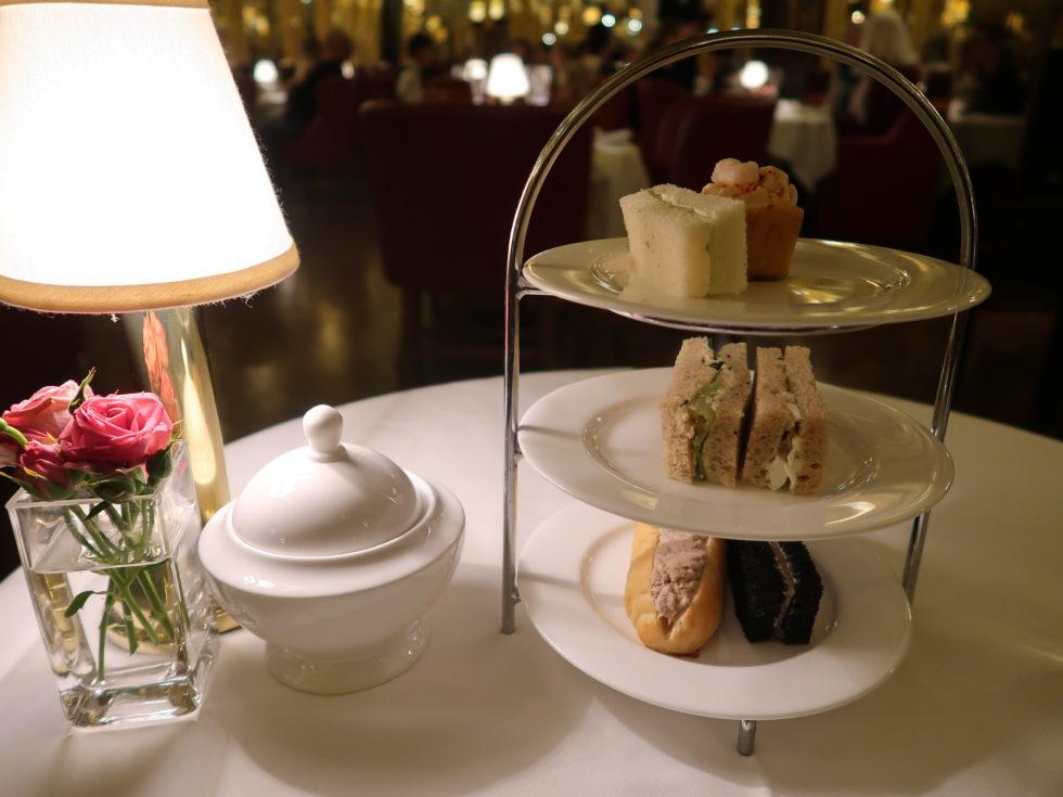 ロンドンのホテルカフェロイヤルで食べたアフタヌーンティーのセイボリー