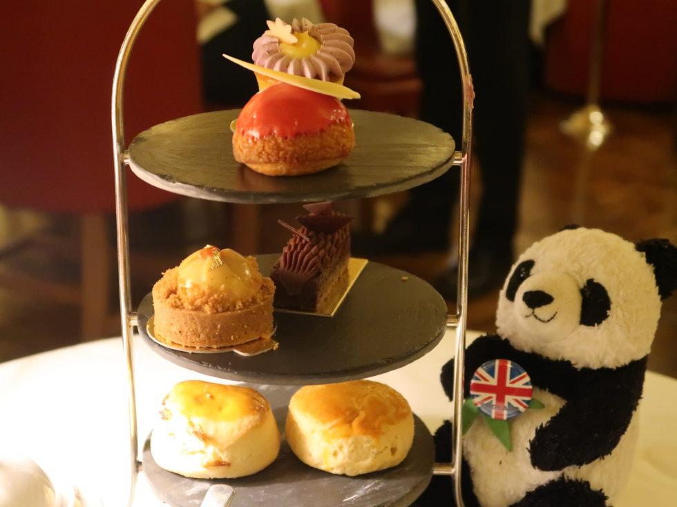 ロンドンのホテルカフェロイヤルで食べたアフタヌーンティーのスイーツ