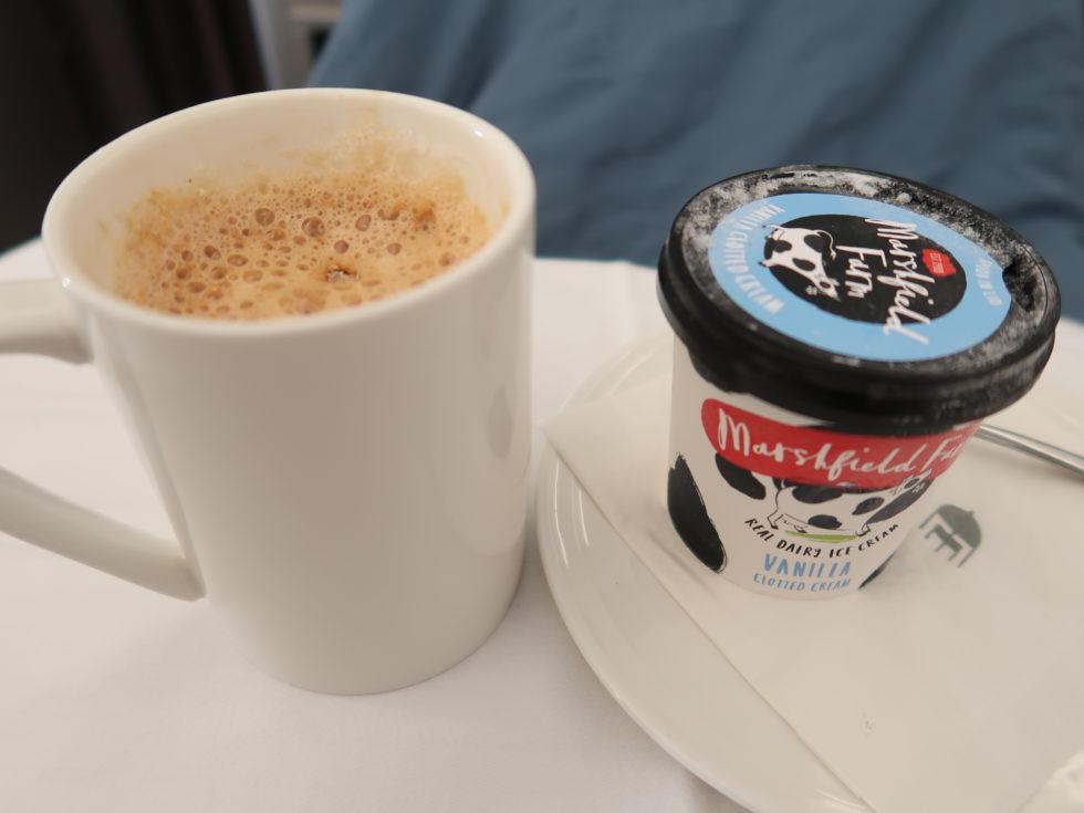 マレーシア航空ビジネスクラス機内食のアイスクリーム