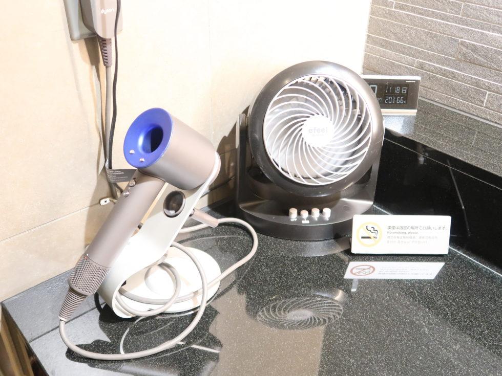 羽田空港国際線ANAスイートラウンジのシャワールーム備品