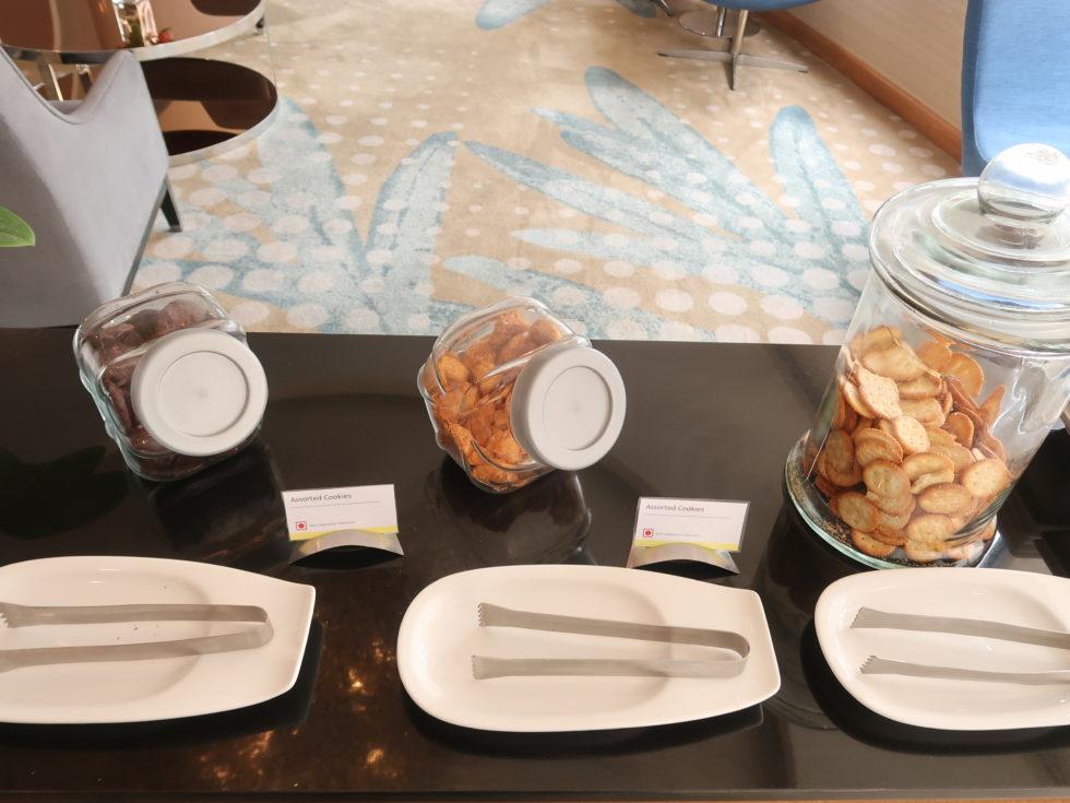 ウェスティンクアラルンプールのクラブラウンジでティータイムに提供されたクッキー