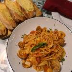 バリのクタビーチにあるイタリアンレストランBella Italiaで食べたパスタ