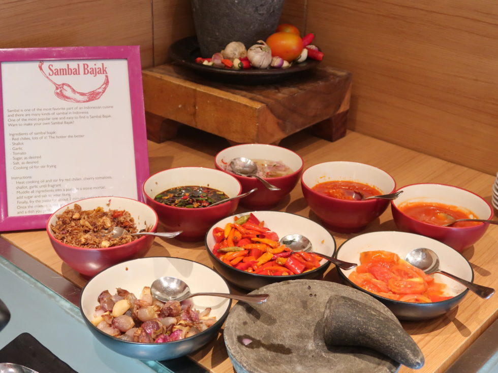 ザストーンズホテルレギャンバリオートグラフコレクション朝食ビュッフェの各種ソース