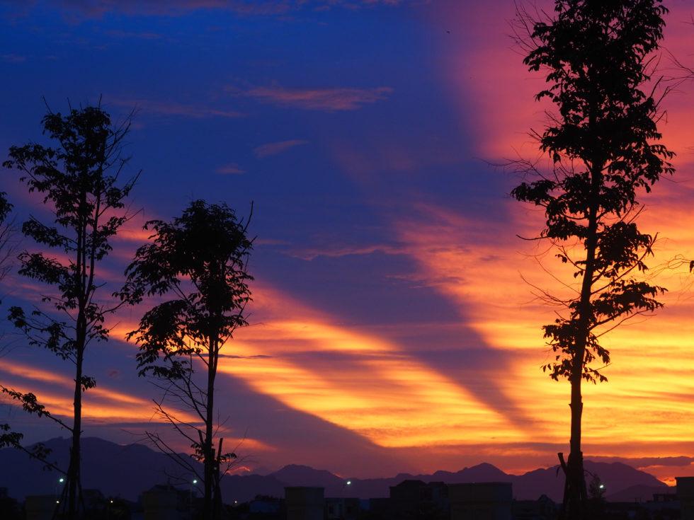 ベトナムのシェラトングランドダナンリゾートのサンセット